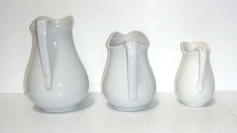 Group of Three 19th Century English Ironstone Pitchers 3