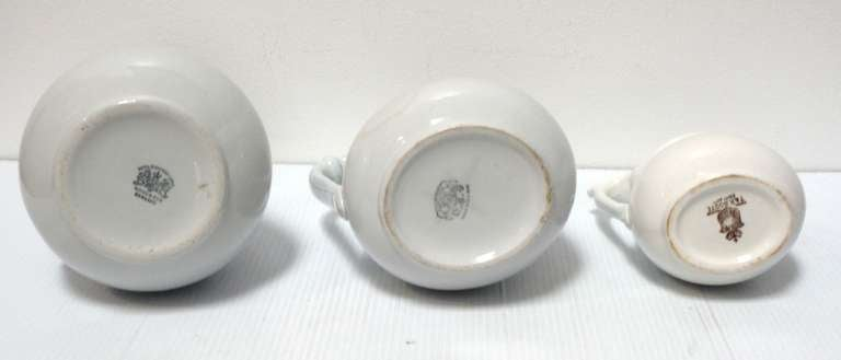 Group of Three 19th Century English Ironstone Pitchers 6