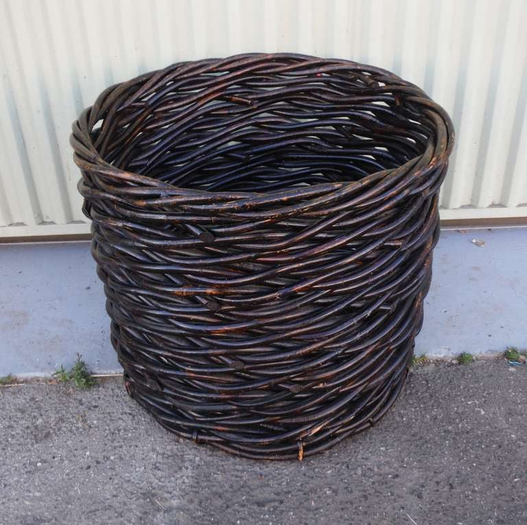 Early Large Twig Basket From The Mid West At 1stdibs
