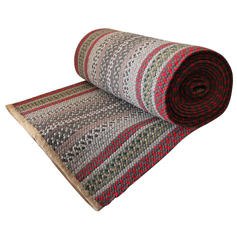 Amazing Hand Braided Long Runner Rug From Pennsylvania For Sale At