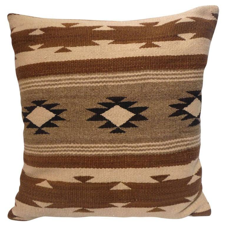 Early Navajo Indian Weaving Pillow 1