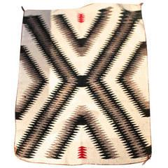 Geometric Eye Dazzler Navajo Indian Weaving