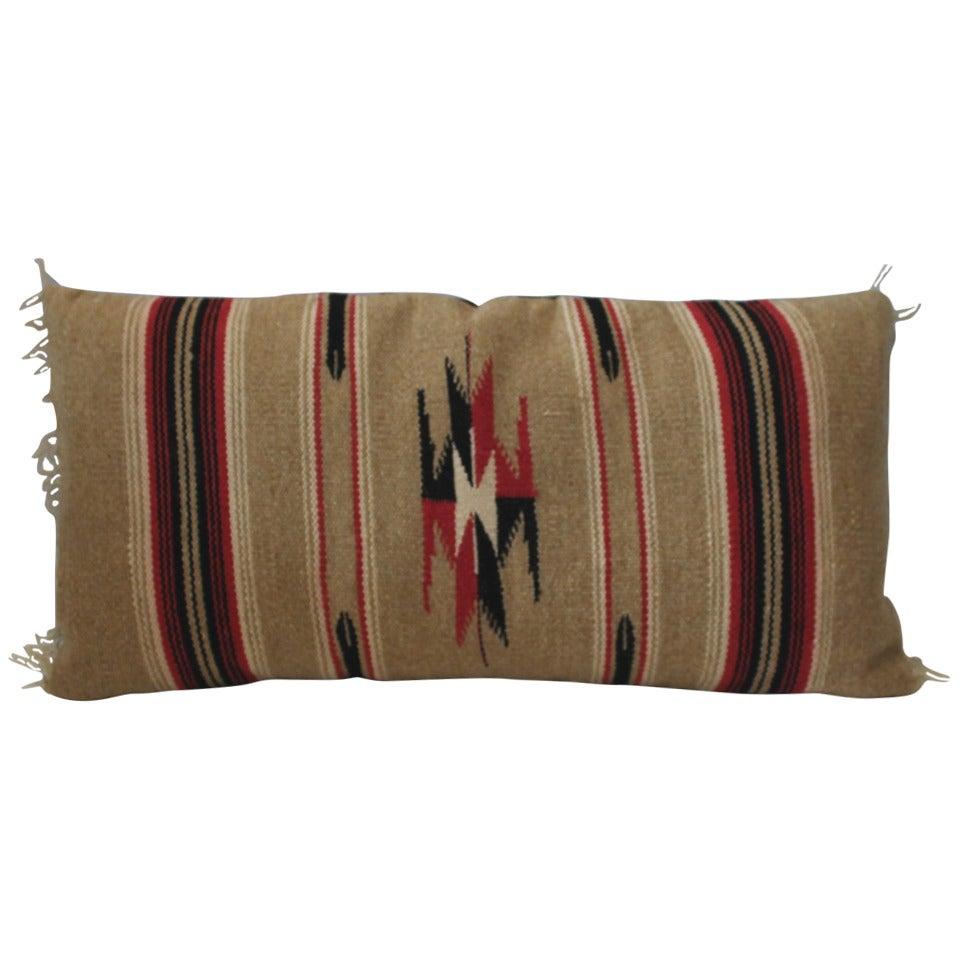 Mexican-American Serape Bolster Pillow