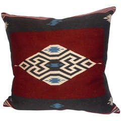 Large Eye Dazzler Indian Weaving Pillow