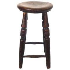 Early 19th c. English Walnut Pub Stool