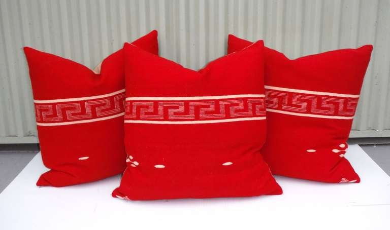 Collection of handwoven Texcoco pillows. 
