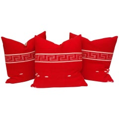 Collection of Three Brilliant Texcoco Woven Pillows