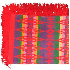 Rare and Early Pendleton Cayuse Fringed Indian Design Camp Blanket