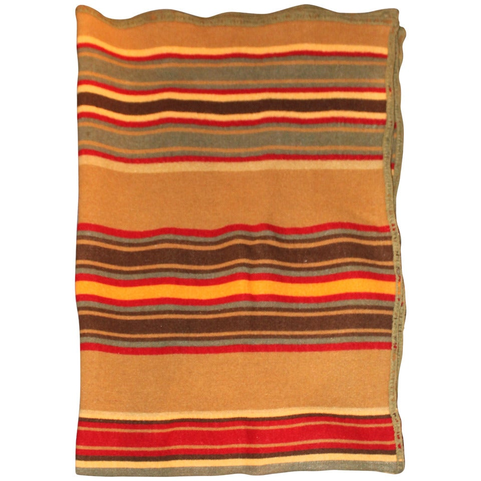 Rare and Early Striped Pendleton or Cayuse Camp Blanket at 1stdibs