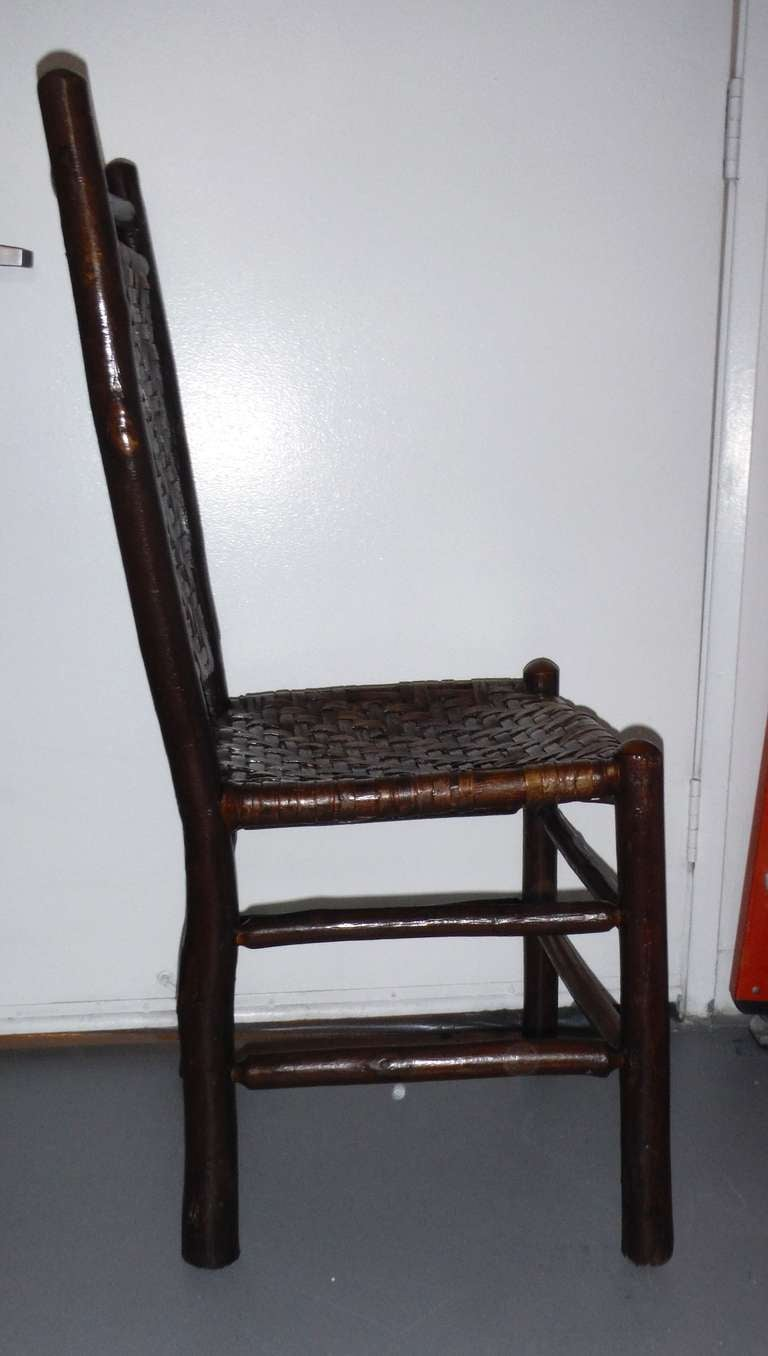 Fantastic Signed Old Hickory Side Chair at 1stdibs