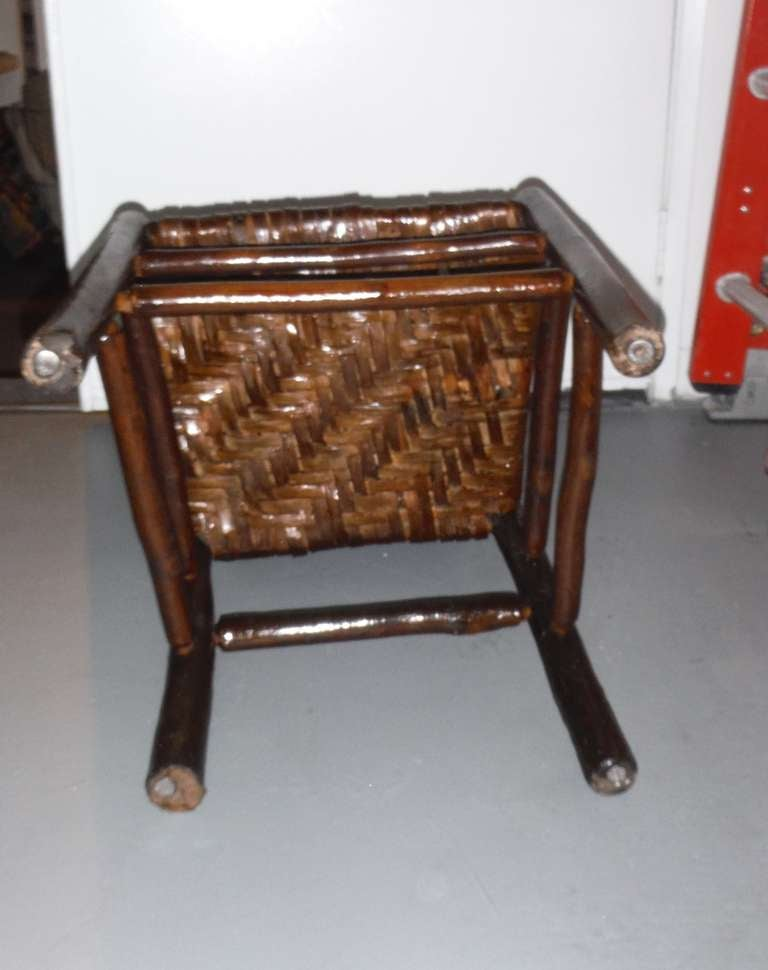Fantastic Signed Old Hickory Side Chair For Sale at 1stdibs