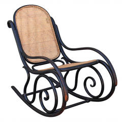 Fantastic Signed Thonet Bentwood Rocking Chair