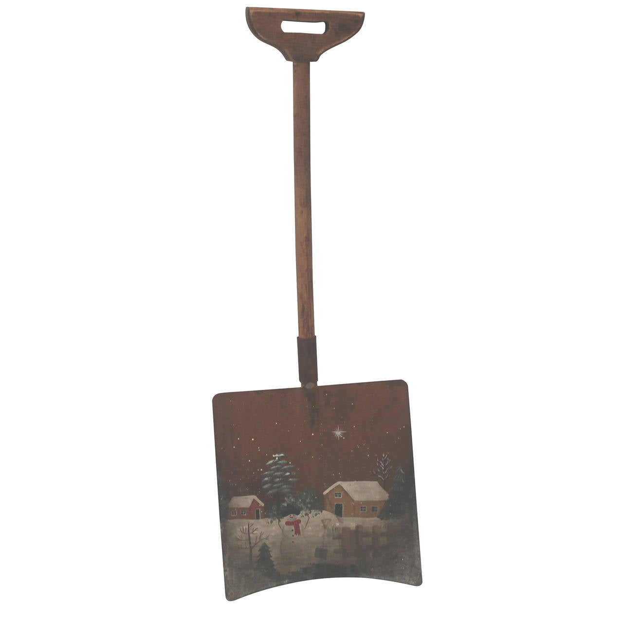 Early Original Paint Decorated Children's Shovel