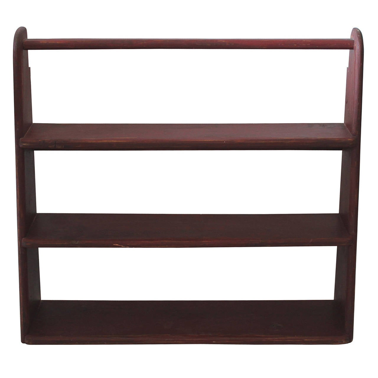 19th Century Original Red Painted Canted Shelf For Sale At