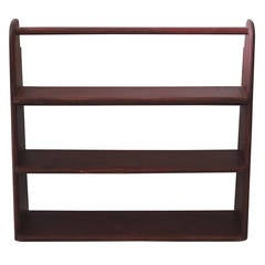 19th Century Original Red Painted Canted Shelf