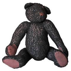 Black Mohair Jointed Teddy Bear