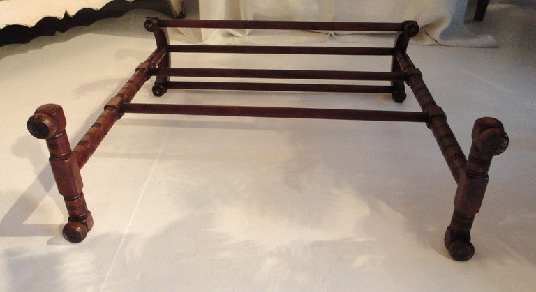 19thc Unusual Form Quilt/Blanket Rack From New England image 7