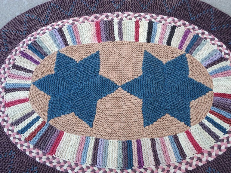 Amish Hand Braided Oval Colorful Area Rug From