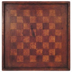 19thc Walnut Inlaid Early Gameboard From Pennsylvania