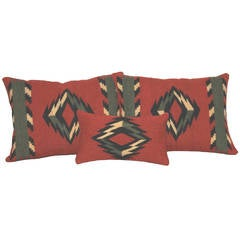 Navajo Indian Weaving Pillows, a Group of Three