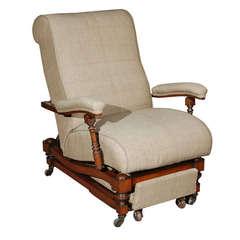 English Reclining Chair, circa 1870