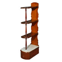 Late 19th Century English Chemist Mahogany Shelf
