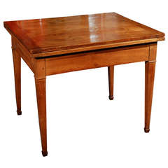1860s French Rectangular Cherrywood Extension Table