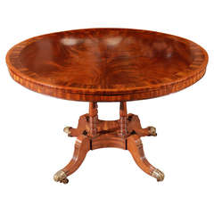 1840s English Round Mahogany Breakfast Table