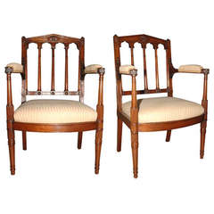Pair of French Fauteuils by George Jacob, circa 1785