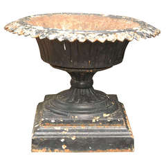 Black Iron Urn from Late 19th Century England