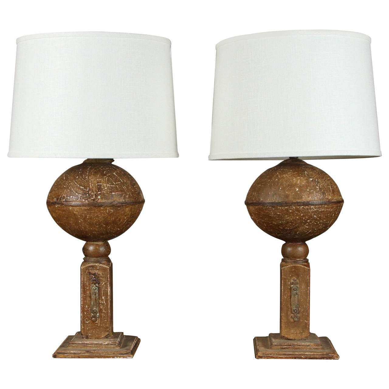 Paper mache lamps at 1stdibs for How to make paper mache lamps