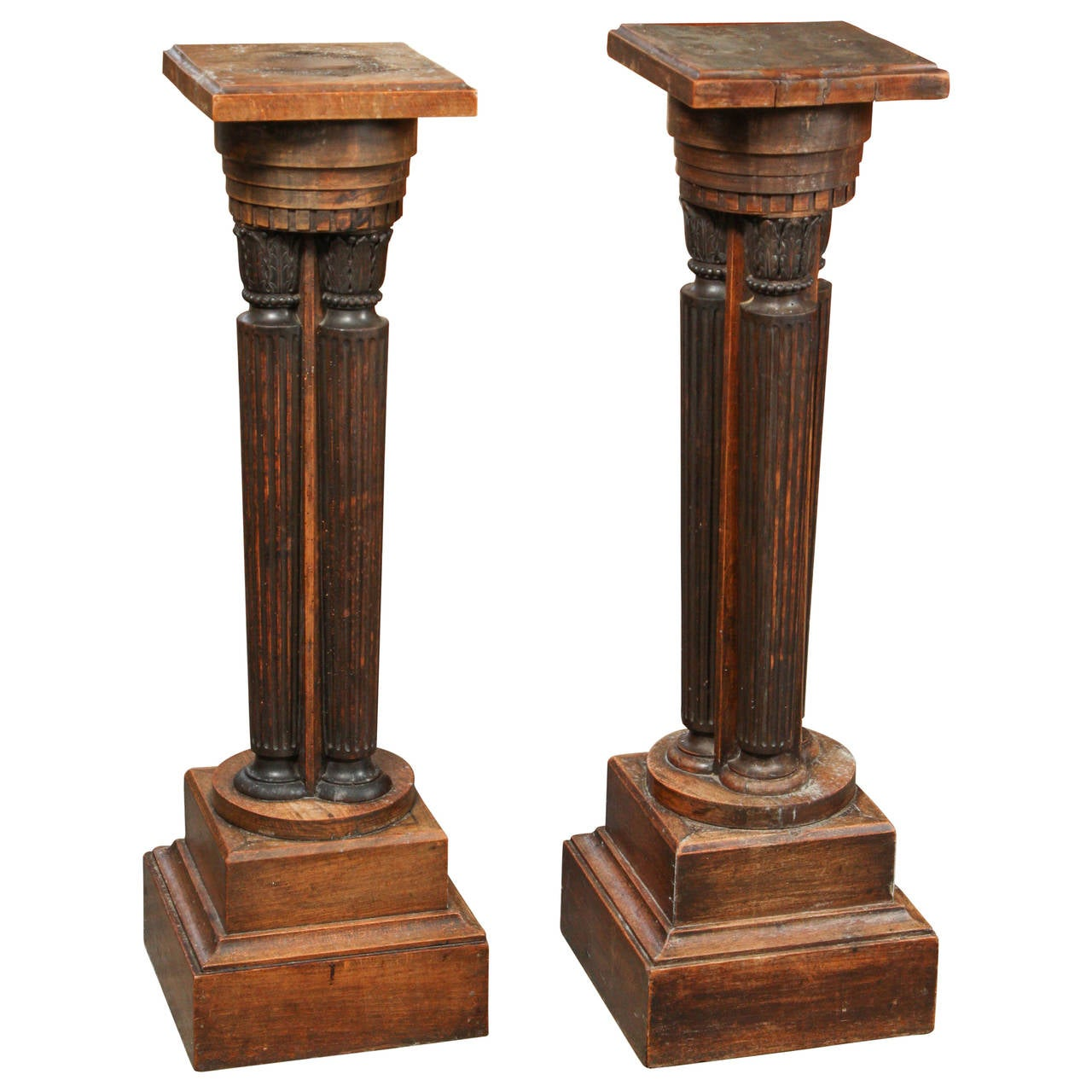 Late 19th Century French Pair of Classical Pedestal Stand Plinths