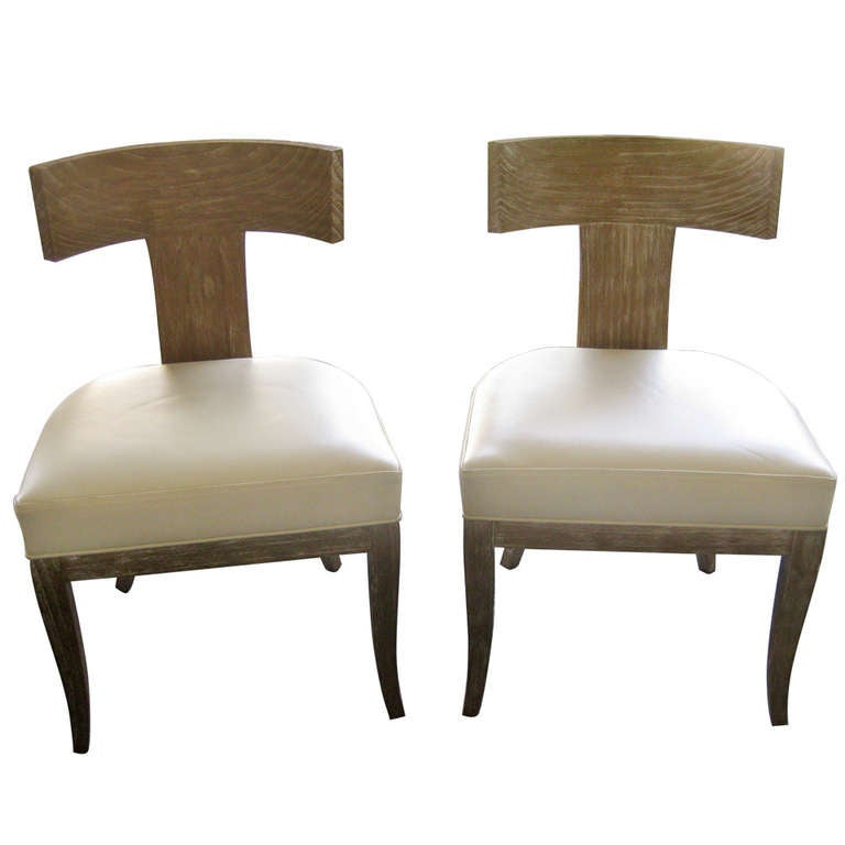Beautiful Pair of Ceres Chairs by Ironies at 1stdibs