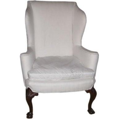 Antique Mahogany Wing Chair At 1stdibs