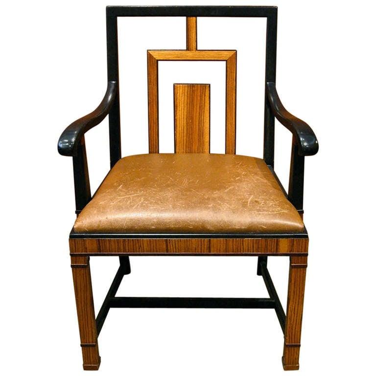 Swedish Art Deco Arm Desk Chair By Gustav Bergstrom Ca