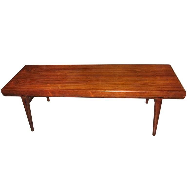 Danish Mid-Century Modern Rosewood Coffee/Storage Table At