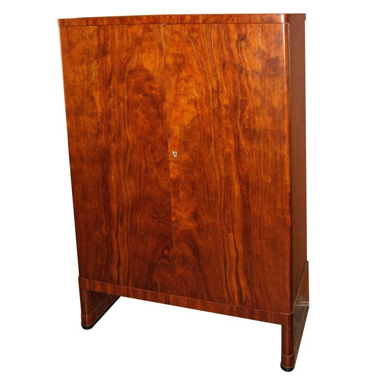 Cherry Wood Mahogany Storage Cabinets ~ Swedish art moderne cherry wood storage cabinet at stdibs
