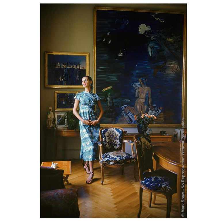 Model In Home Of Raoul Dufy Nice 1955 Photo By Mark Shaw At 1stdibs
