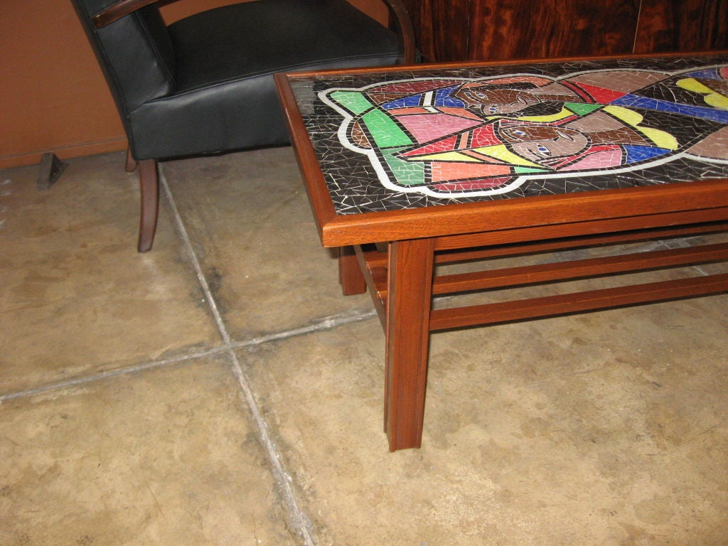 Danish Midcentury Mosaic Glass Coffee Table For Sale At 1stdibs