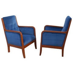 Pair of Small Scale Swedish Art Deco Armchairs, circa 1920