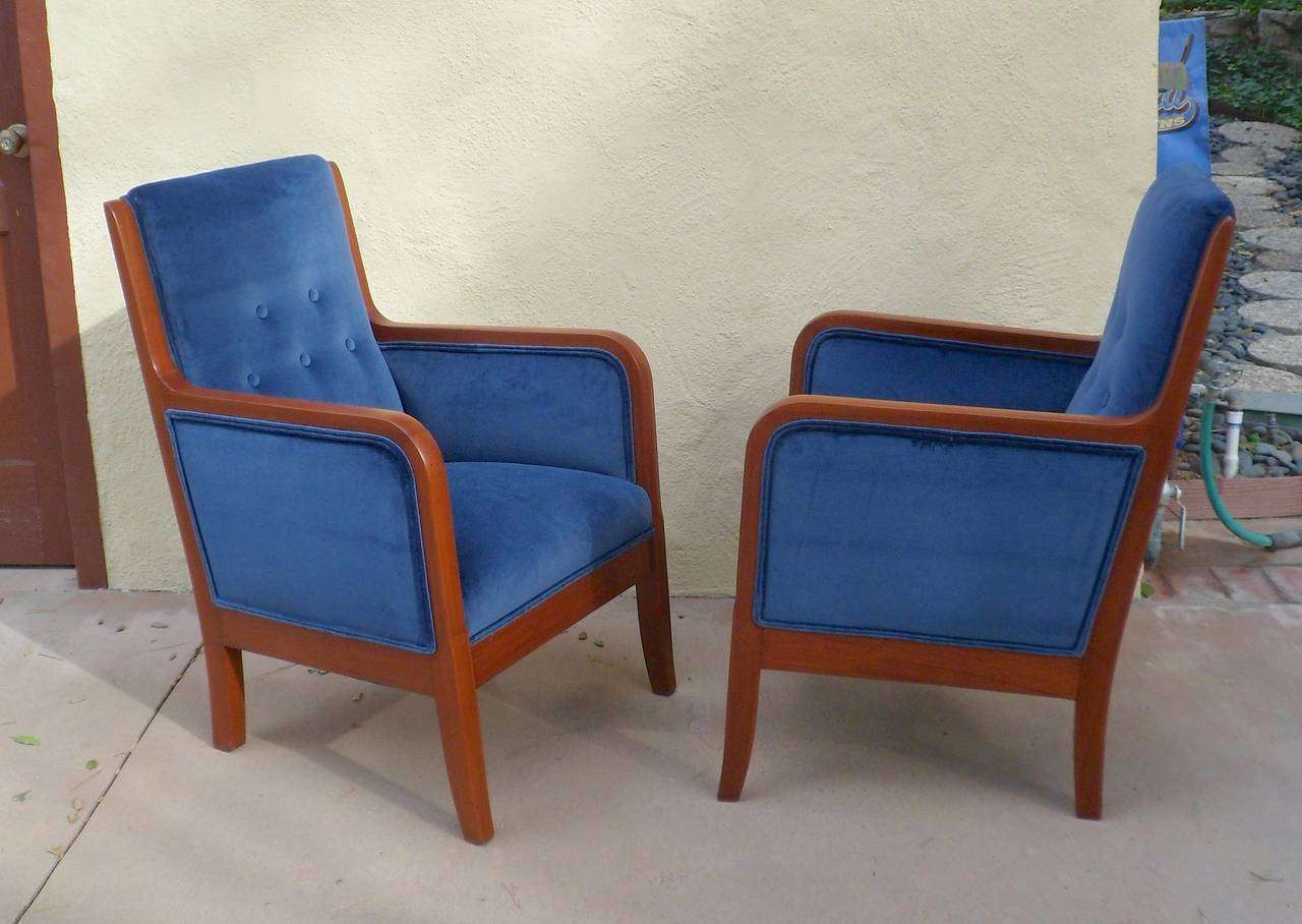 Pair of Small Scale Swedish Art Deco Armchairs, circa 1920 ...