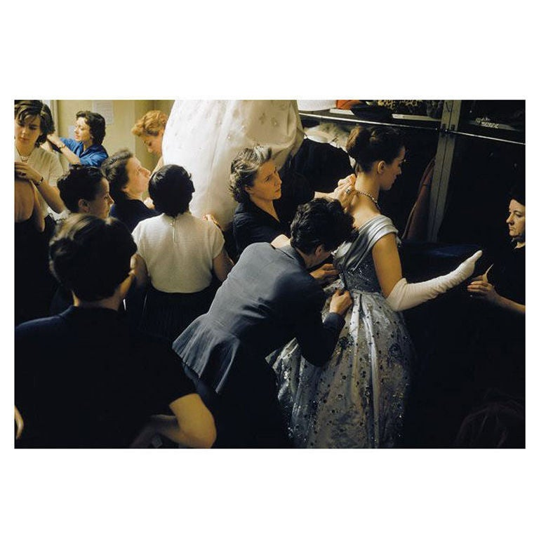 Mark Shaw - Backstage at Pierre Balmain- Paris, 1954 #14
