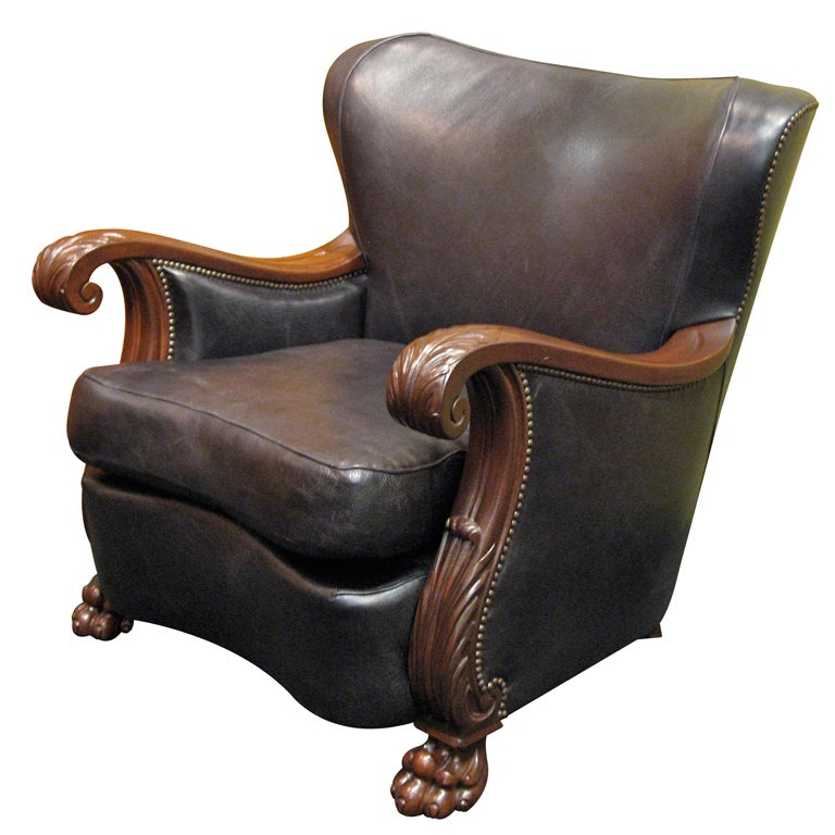 Swedish gothic moderne winged back bergere ca 1940 at 1stdibs - Fauteuil bergere moderne ...