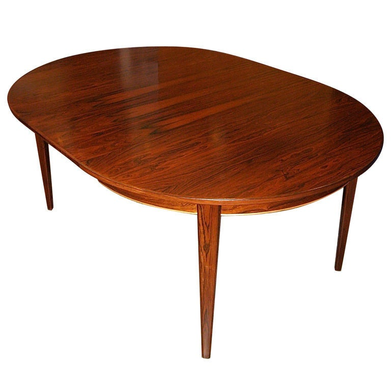 this danish mid century modern extendable rosewood dining table is no