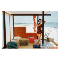 Mark Shaw Editioned Photo-St. Tropez Beach Cabana, 1960 #2