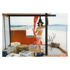 Mark Shaw Editioned Photo-St. Tropez Beach Cabana, 1960 #1