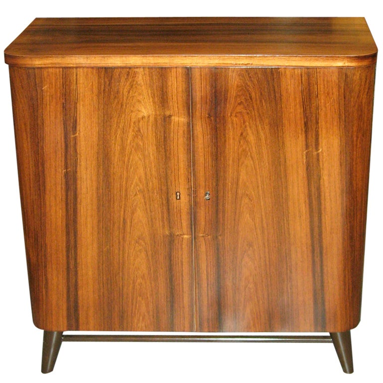 swedish mid century modern storage cabinet in rosewood at