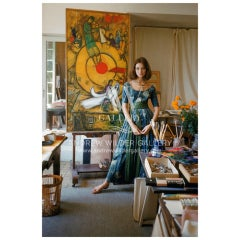Model in Studio of Marc Chagall-Editioned Photo by Mark Shaw