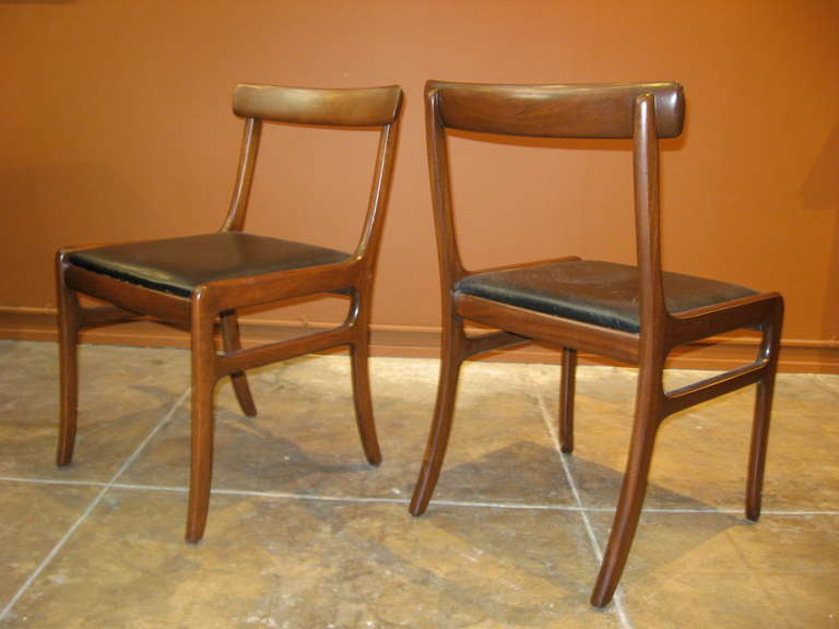 Set Of Six Ole Wanscher Mid Century Modern Danish Dining Chairs At 1stdibs