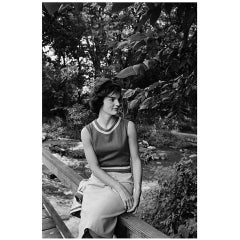 Mark Shaw Photo-Jackie Kennedy at Georgetown Canals-Seated